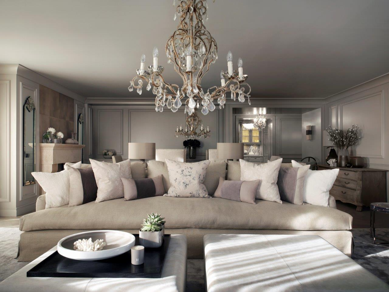Interior Design Ideas For Living Rooms: A Luxury Swiss Chalet Designed By Kelly Hoppen