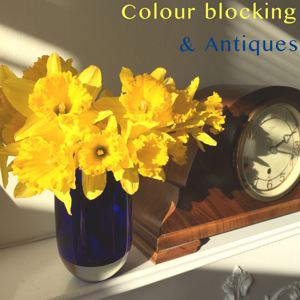 colour blocking and antiques