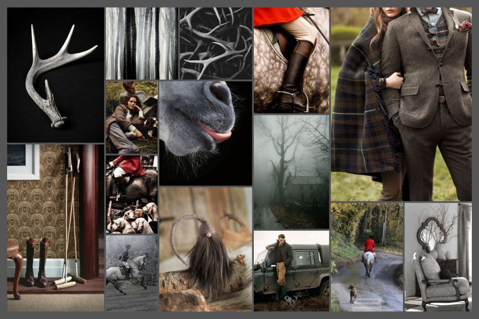 Equestrian & Outdoor Country styled moodboard