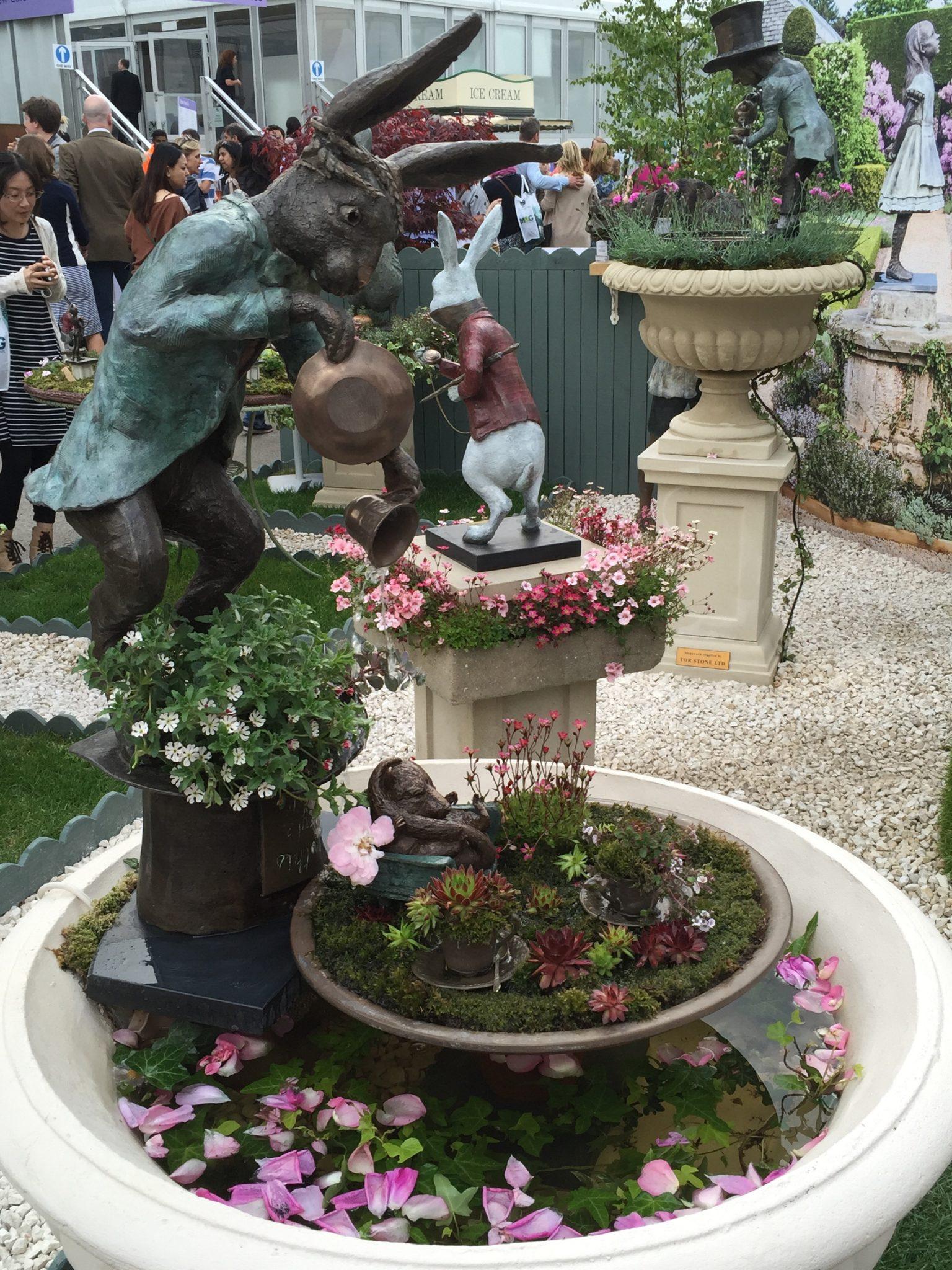 March Hare sculpture Chelsea Flower show