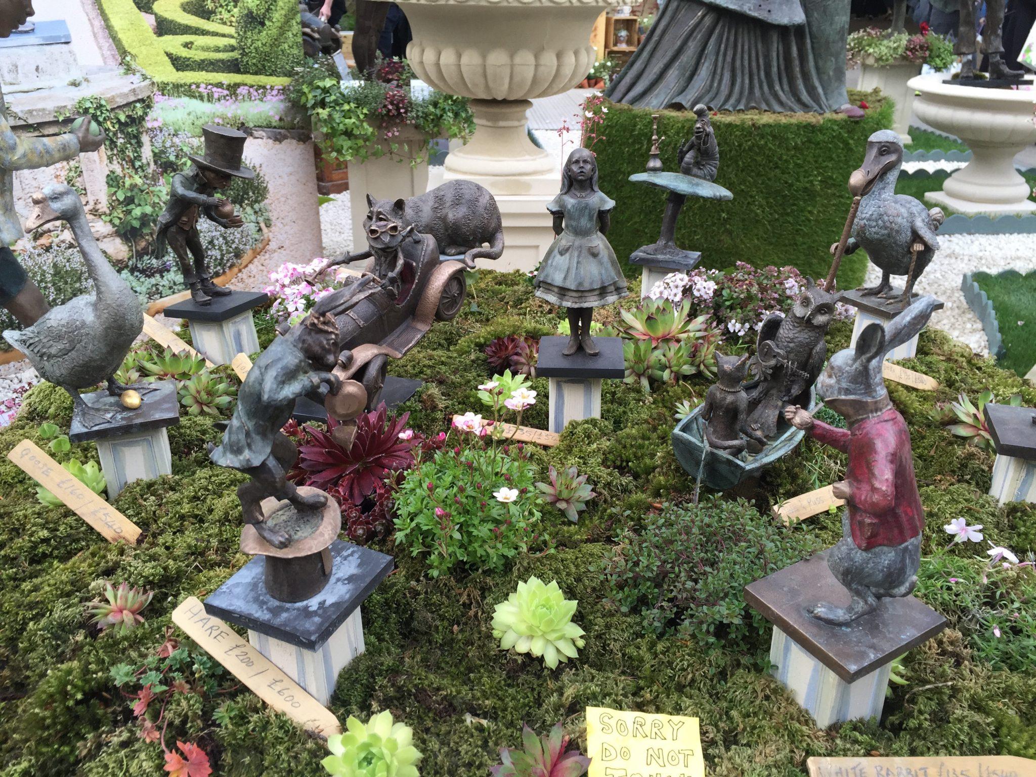 Robert James Miniature Sculptures Chelsea Flower Show