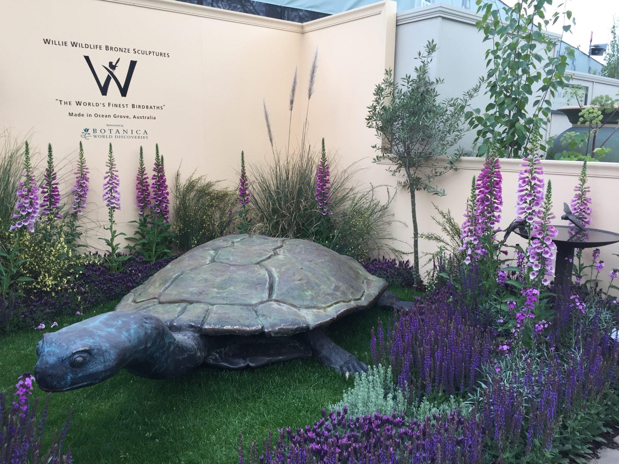Bronze Tortoise Sculpture Chelsea Flower Show