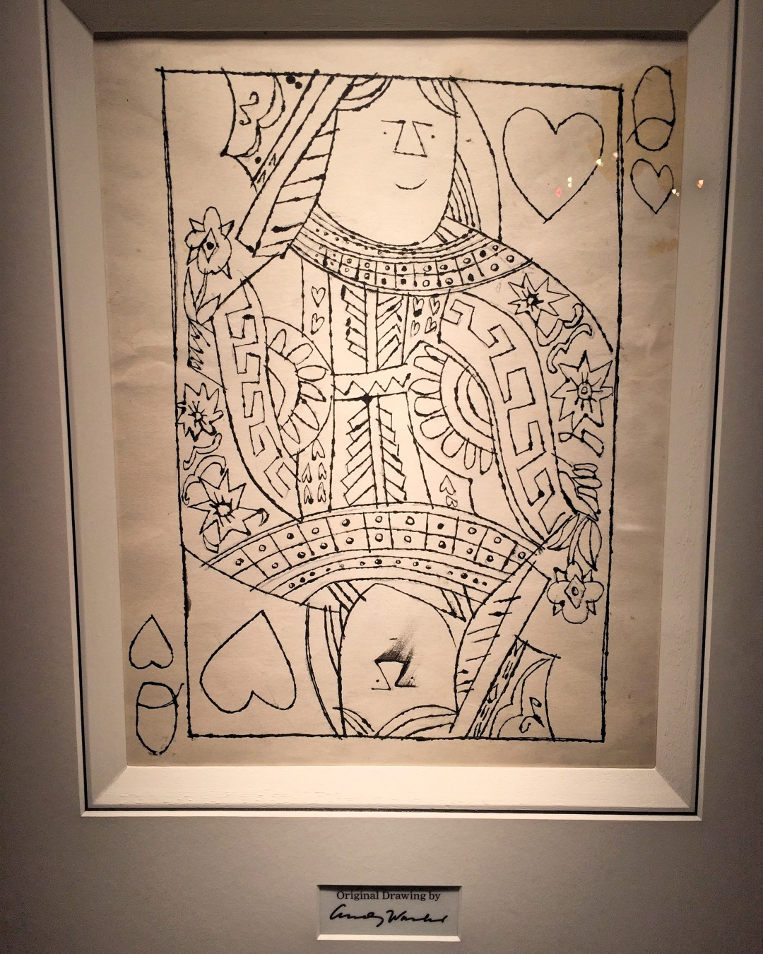 Mayfair Antiques and Fine Art Fair Andy Warhol Queen of Hearts