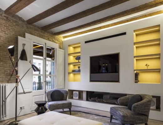 Barcelona Apartment designed by Anke Summerhill, Creative Director of Minotti London