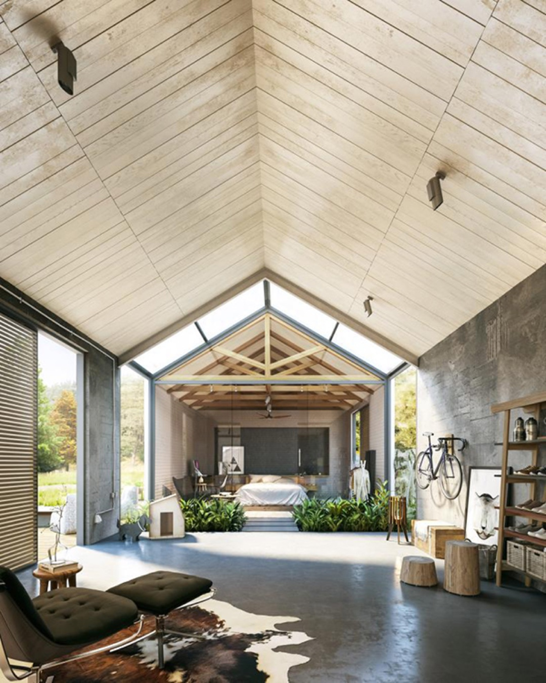 Open plan living design tips and ideas for Barn plans with living area