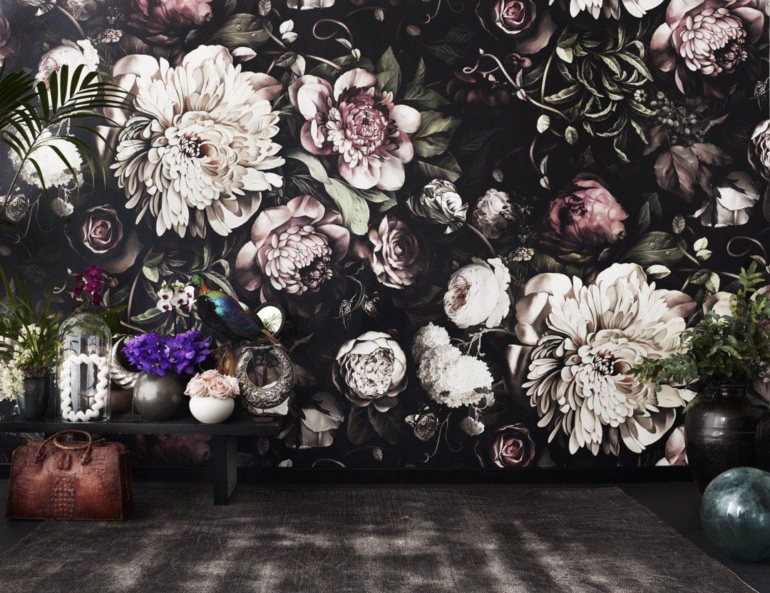 Ellie Cashman Dutch Old Master Inspired Floral Wallpaper