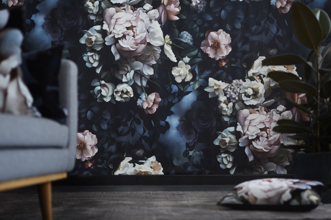 Dutch Old Master Inspired Floral Wallpaper